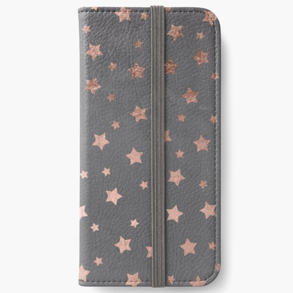 rose gold Christmas stars geometric pattern cement iPhone Wallet