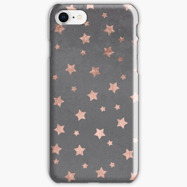 rose gold Christmas stars geometric pattern cement iPhone Snap Case