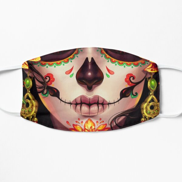 Day of the Dead, Sugar Skulls Face Mask Mask