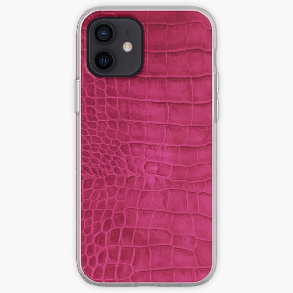 Croco leather iPhone Soft Case