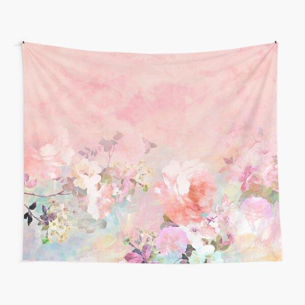Pastel blush acuarela ombre acuarela floral Tela decorativa