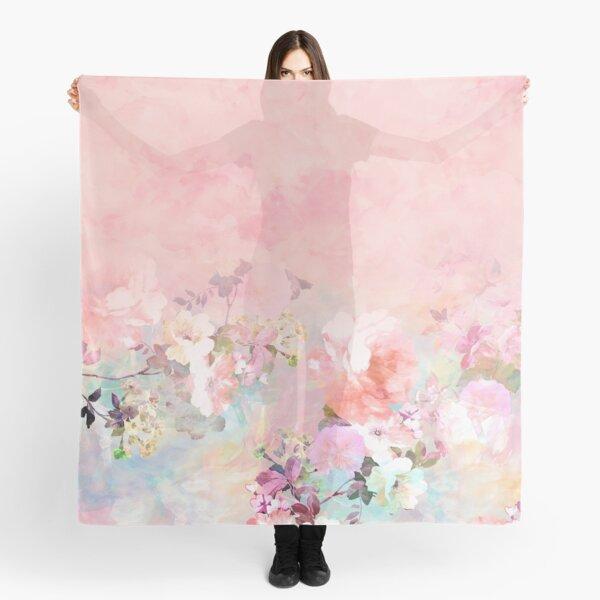 Pastel blush watercolor ombre floral watercolor Scarf