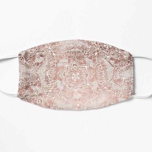 Modern faux rose gold floral mandala hand drawn Flat Mask