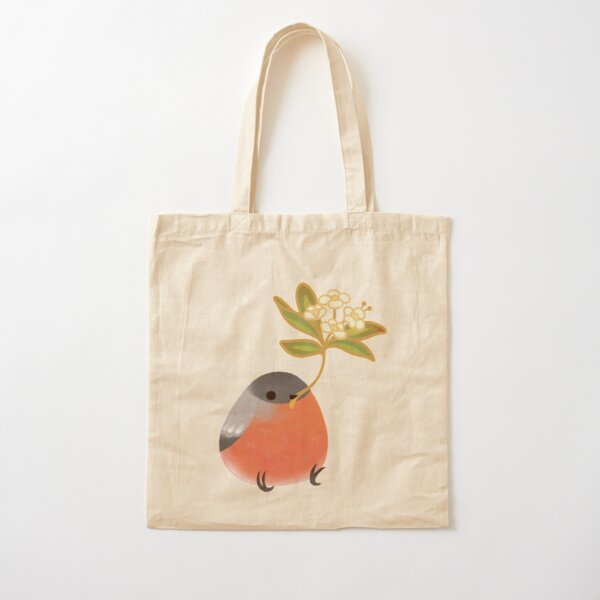 Eurasian bullfinch Cotton Tote Bag