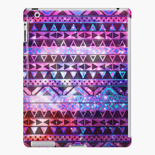 Girly Andes Aztec Pattern Pink Teal Nebula Galaxy iPad Snap Case