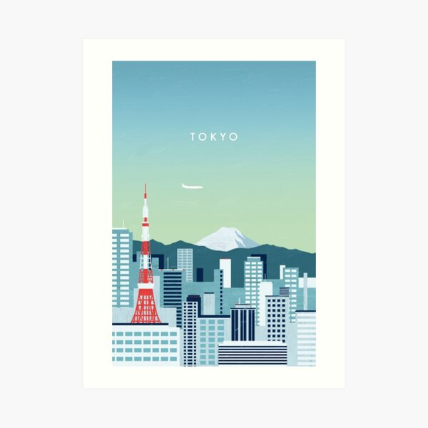Tokio Travel Poster Kunstdruck