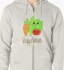 Veggitarian Tshirt Zipped Hoodie