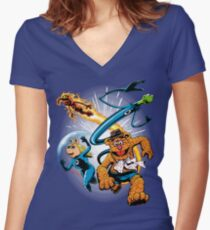 The Muptastic Four Women's Fitted V-Neck T-Shirt