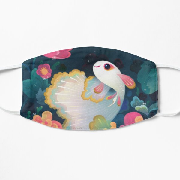 Flower guppy Flat Mask