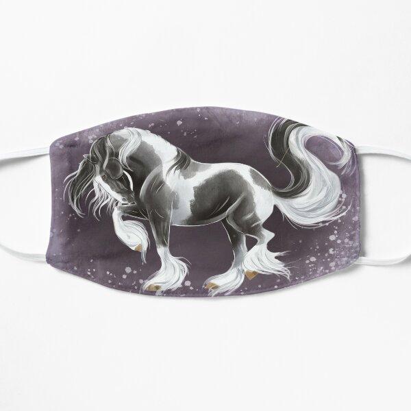 Gypsy gold - gypsy horse stallion prancing  Flat Mask