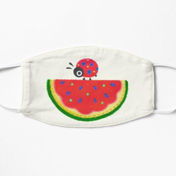 Watermelon & ladybugs Flat Mask