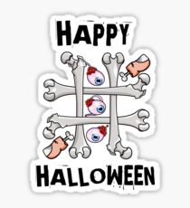 Happy Halloween Noughts and Crosses Sticker