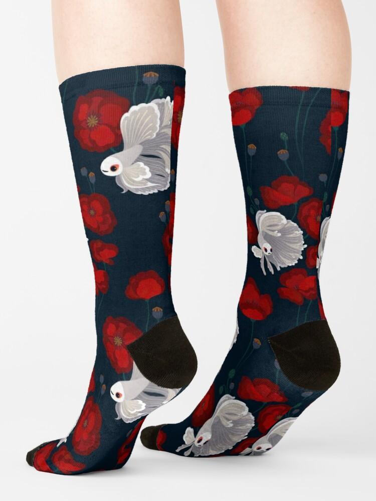 Alternate view of Bettas and Poppies Socks
