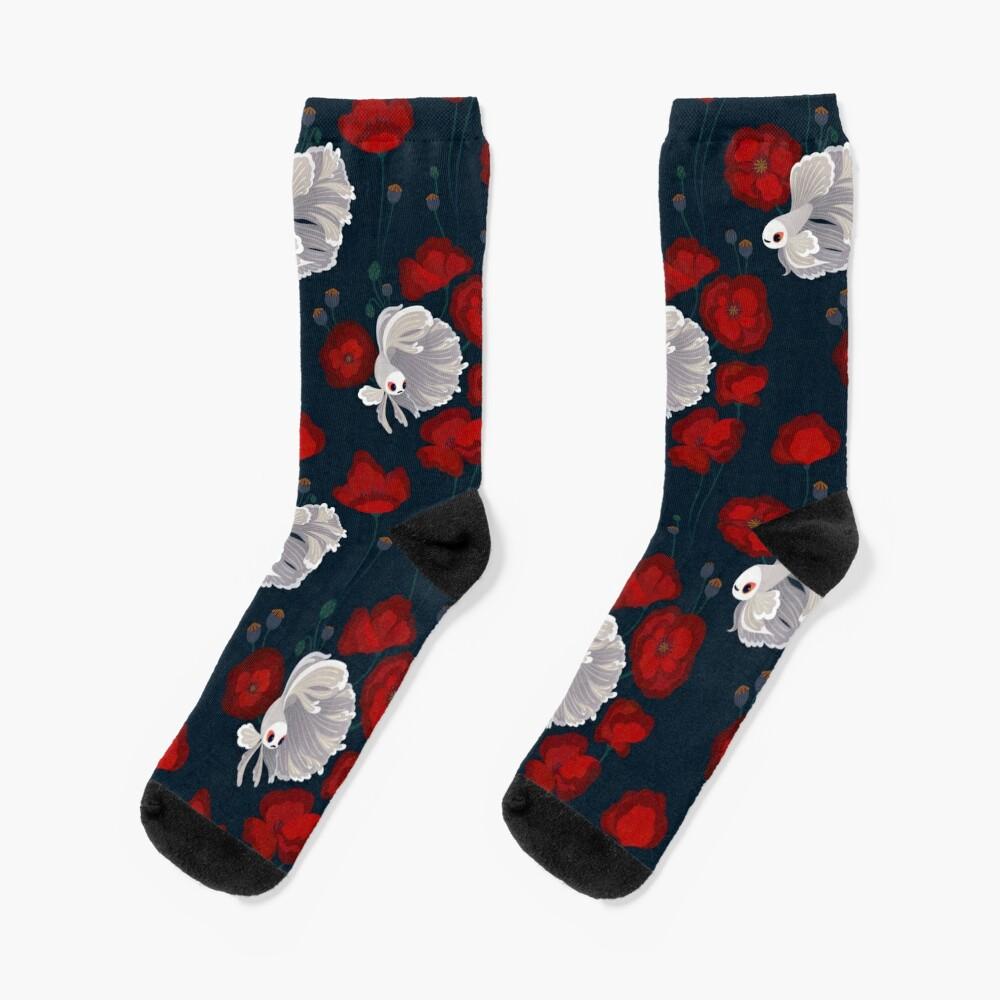 Bettas and Poppies Socks