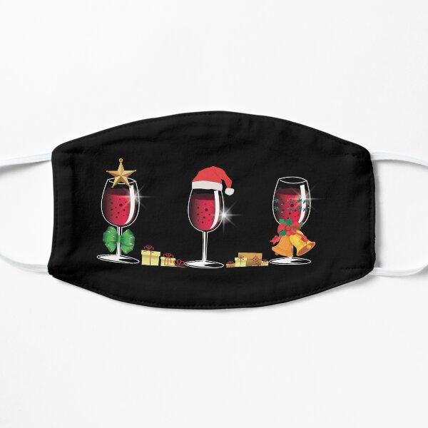 Santa Hat Christmas Wine Glasses Xmas Drinking Gift Flat Mask
