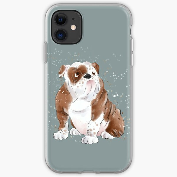 Cute Bulldog  iPhone Soft Case