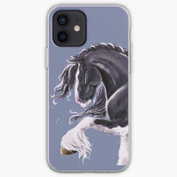 Gypsy cob horse  iPhone Soft Case