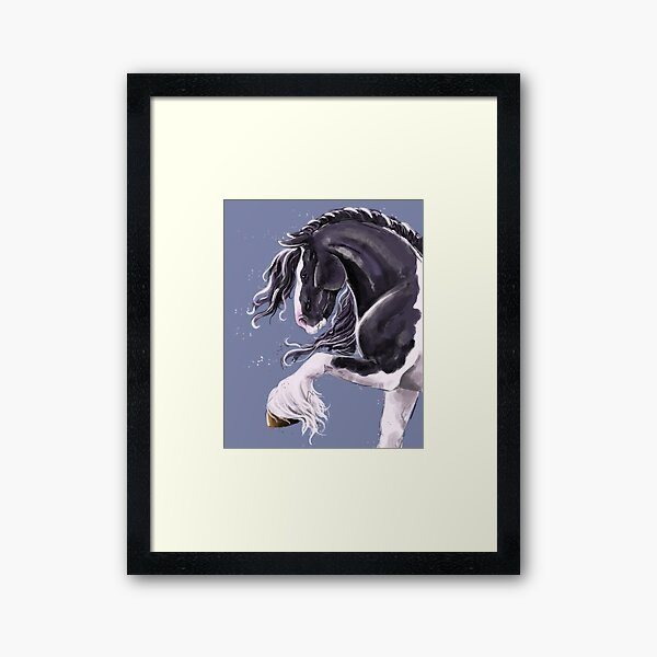 Gypsy cob horse  Framed Art Print