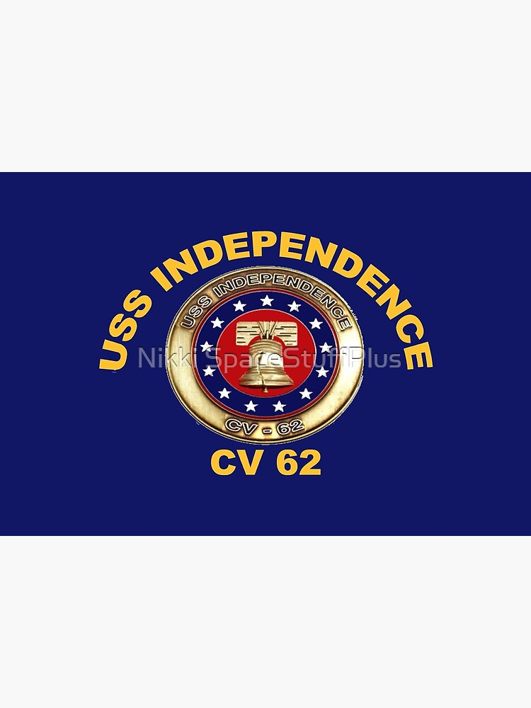 USS Independence (CV/CVA-62) Crest for Dark Colors by Spacestuffplus