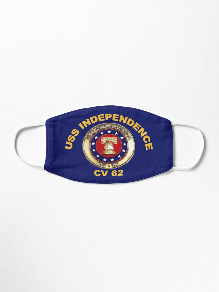 Alternate view of USS Independence (CV/CVA-62) Crest for Dark Colors Mask