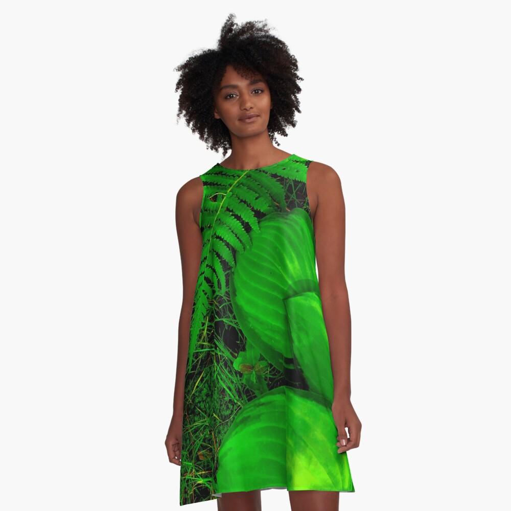 Hostas, Ferns and Moss OH MY! A-Line Dress