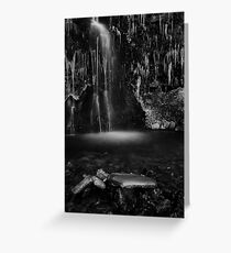 Frozen Fall, Buckden, Yorkshire Dales Greeting Card