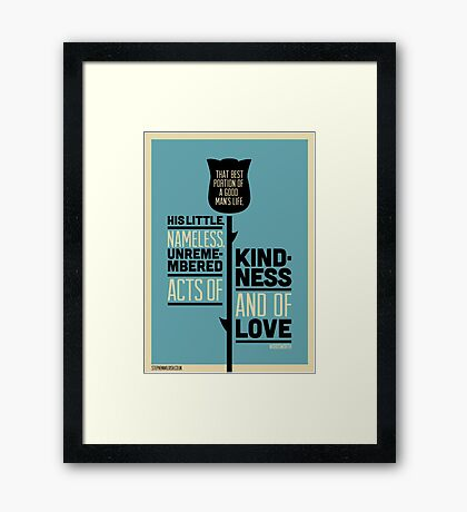 Unremembered, nameless acts Framed Print