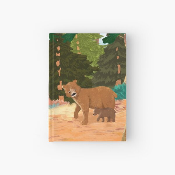 Bears in the Forest -  Mother and Cub  Hardcover Journal