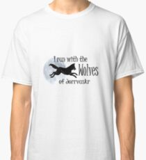 Running with the Wolves (with moon) Classic T-Shirt
