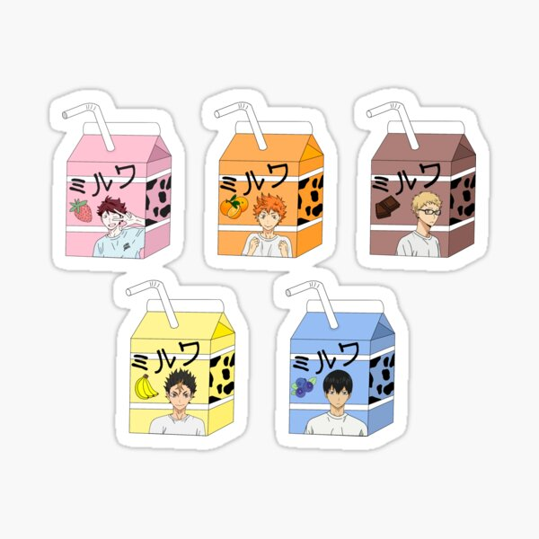 Haikyuu milks Sticker