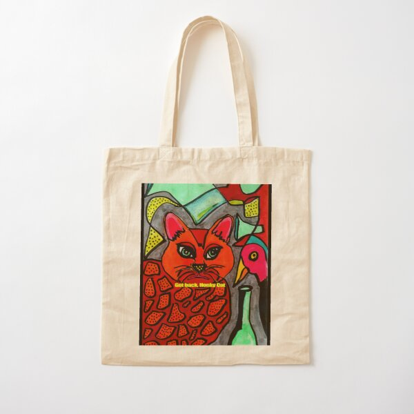 Get Back  Honky Cat and Bird Cotton Tote Bag