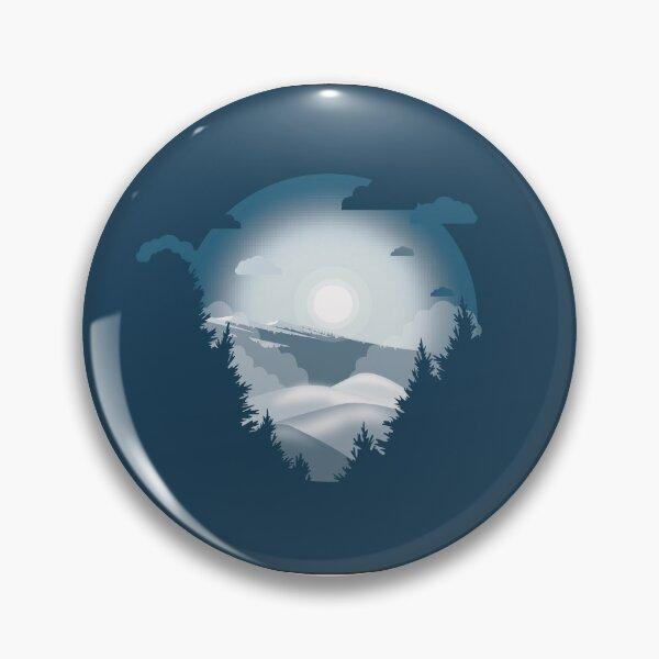 Paysage hivernal  Badge