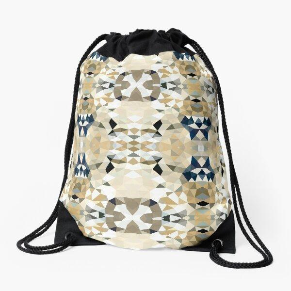 Neutral Tribal Drawstring Bag