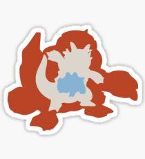 PKMN Silhouette - Rhyhorn Family Sticker
