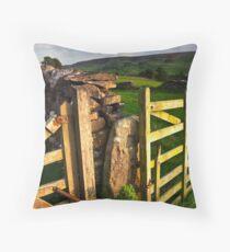 Above Grassington, Yorkshire Dales Throw Pillow