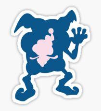 PKMN Silhouette - Mr. Mime Family Sticker