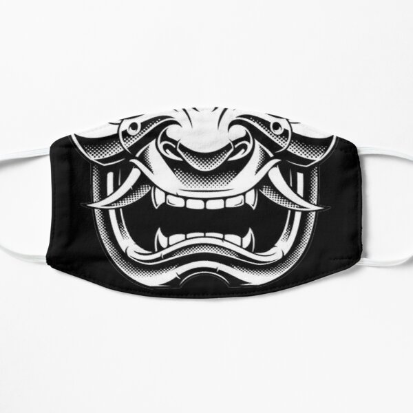 White Samurai Face Mask Mask