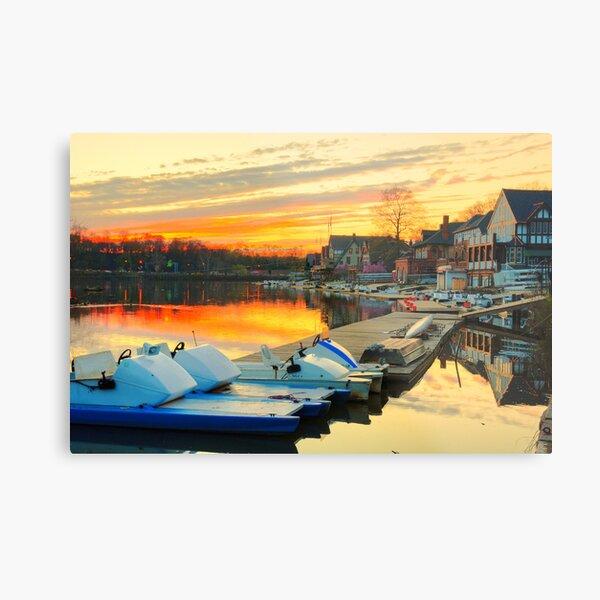 Boat House Row, Philadelphia Metal Print