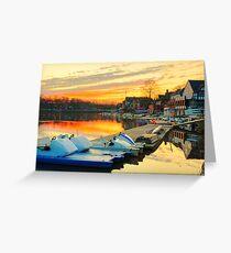 Boat House Row, Philadelphia Greeting Card