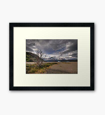 The Shore of Lago Grey Framed Print