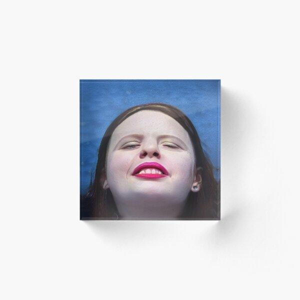 Walaye Water Pink Lip Portrait Acrylic Block