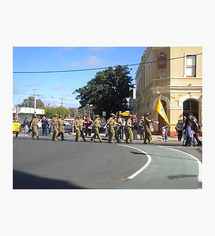 Anzac  Day - 2012 Echuca - Marching Cadets  Photographic Print