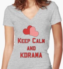 Keep Calm... Women's Fitted V-Neck T-Shirt