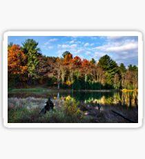 Scenic Autumn Landscape Sticker
