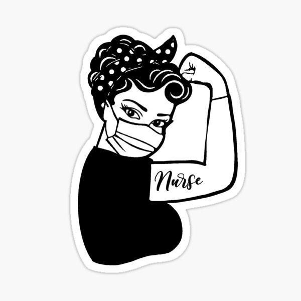 Infirmière infirmière de première ligne Sticker