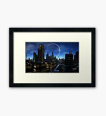 Moon over Santos Grayling Framed Print
