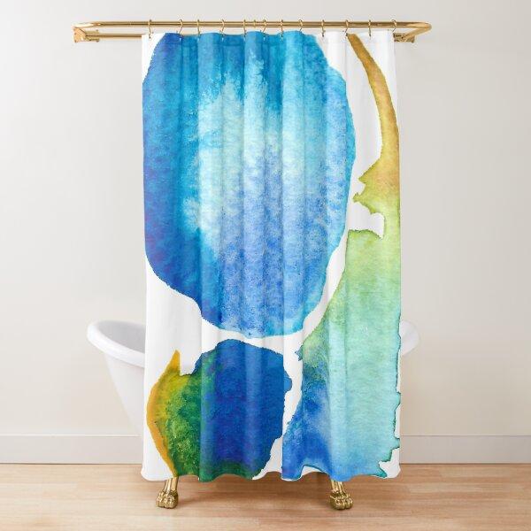 BLUE DROP Shower Curtain