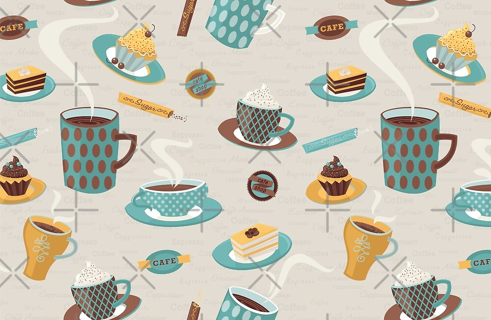 Morning Coffee Pattern  by rusanovska