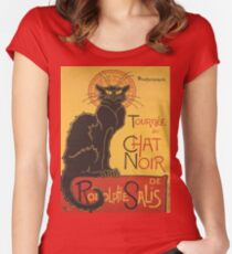 Soon, the Black Cat Tour by Rodolphe Salis Women's Fitted Scoop T-Shirt