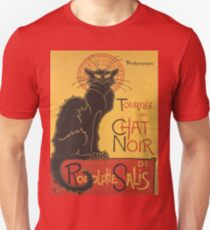 Soon, the Black Cat Tour by Rodolphe Salis Unisex T-Shirt